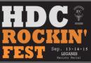 HDC ROCKIN FEST LEGANÉS. Dias 13, 14 Y 15 de septiembre de 2019