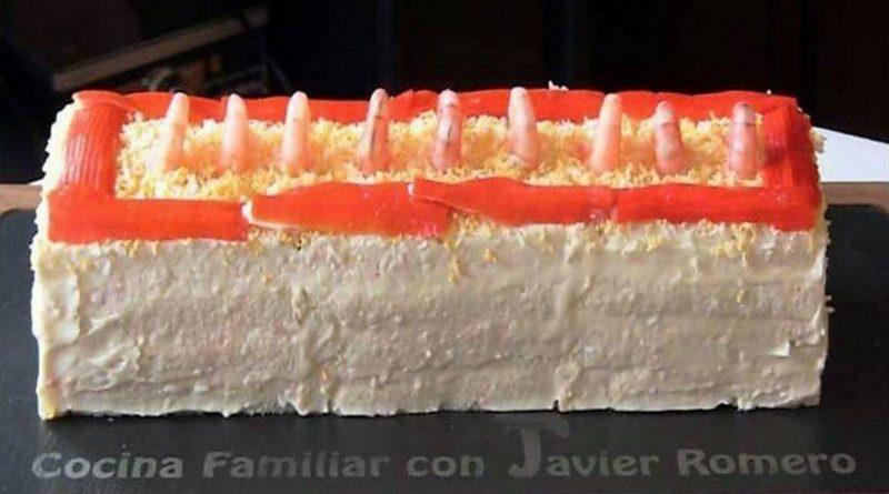 Receta de la semana: Pastel frío de marisco con pan de molde.